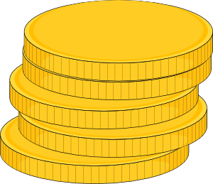 picture royalty free Money Stack Of Coins Clip Art at Clker