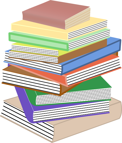 banner transparent stock Stack Of Books