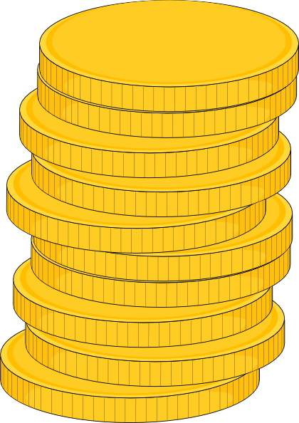 vector black and white stock Stack Of Coins Clip Art at Clker