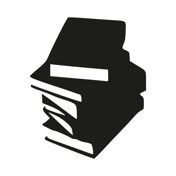 vector freeuse Vector books line art. Tall stack of png
