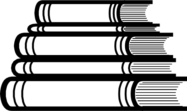 clip black and white Stack of at clker. Books svg clip art