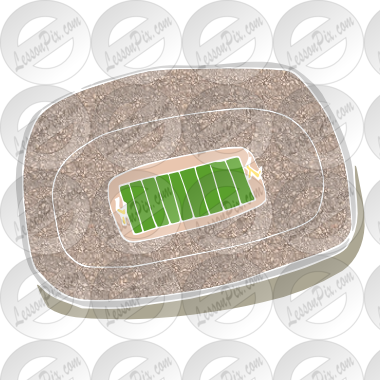 image library Stencil for classroom therapy. Stadium clipart.