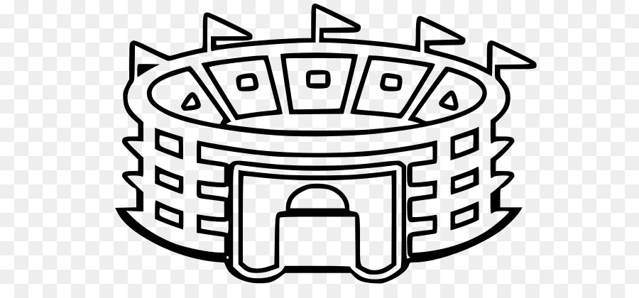 picture black and white library Stadium drawing black and white. Soccerspecific american football text