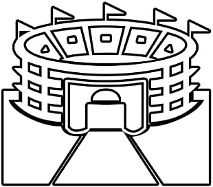 banner free download Free download best on. Stadium drawing black and white