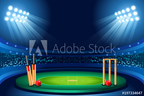 royalty free library Cricket stadium vector background