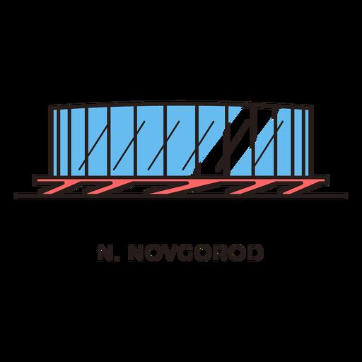 transparent stock Novgorod football stadium logo