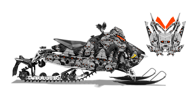 clip art black and white stock Demonic Custom Design for Polaris AXYS