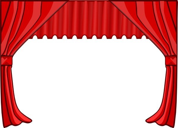 vector black and white library Theatre clip art bordes. Circus clipart curtain.
