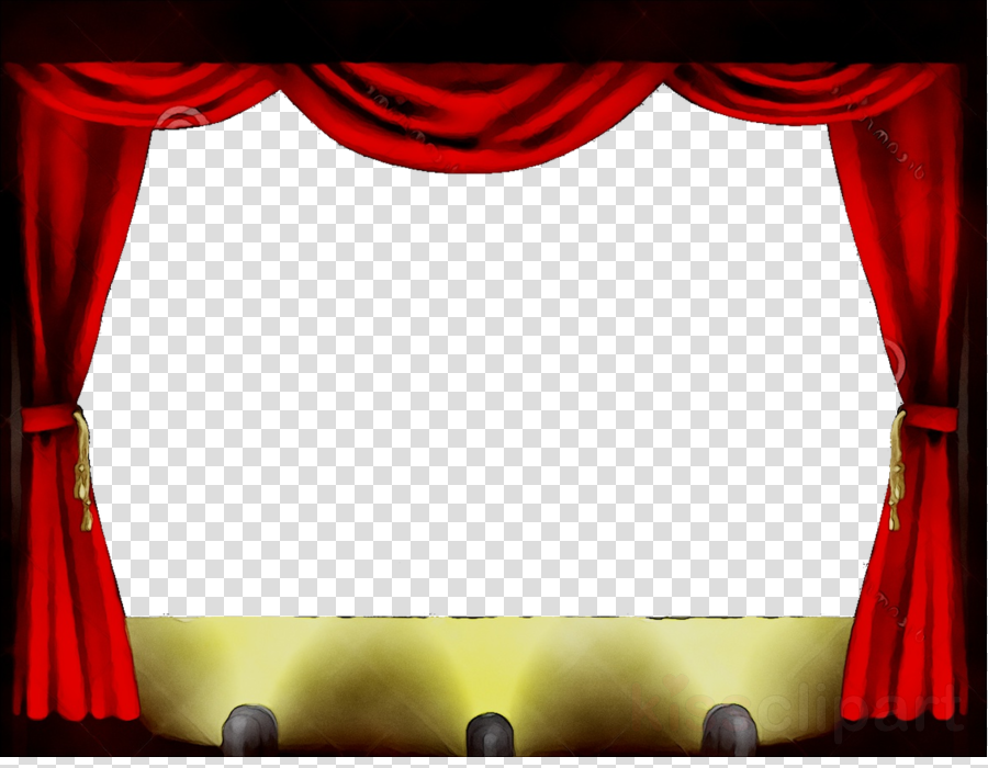 jpg freeuse Theatre curtains theater . Stage clipart.