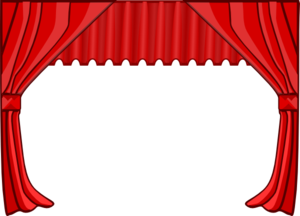 picture black and white Theater Curtains Clip Art at Clker