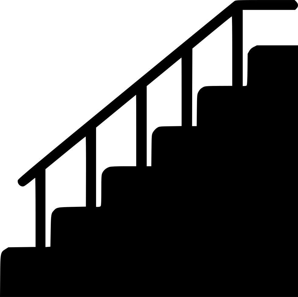 clip royalty free library Steps clipart stair side view. Silhouette at getdrawings com