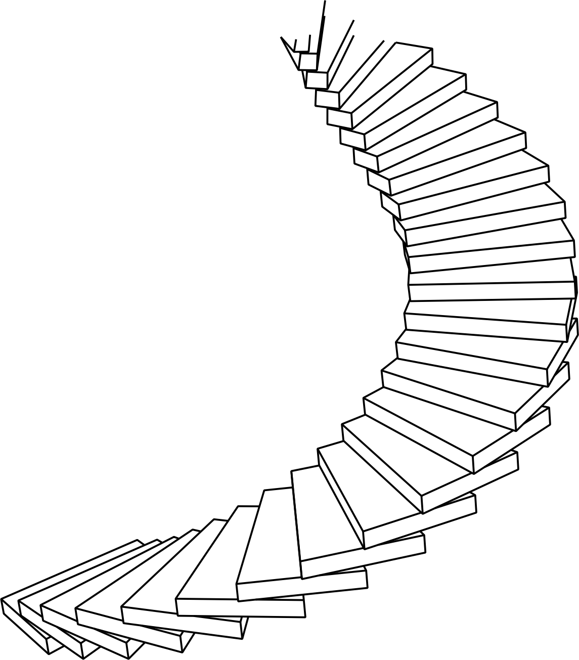 graphic library stock Spiral Staircase Drawing at GetDrawings