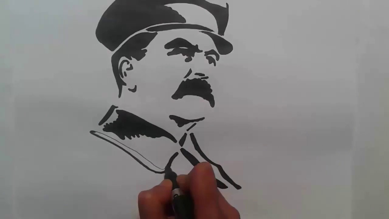 png free library How to draw joseph. Stalin drawing.