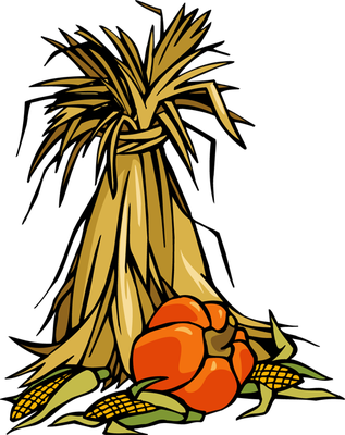 banner black and white library Corn Stalk Bundle Clipart