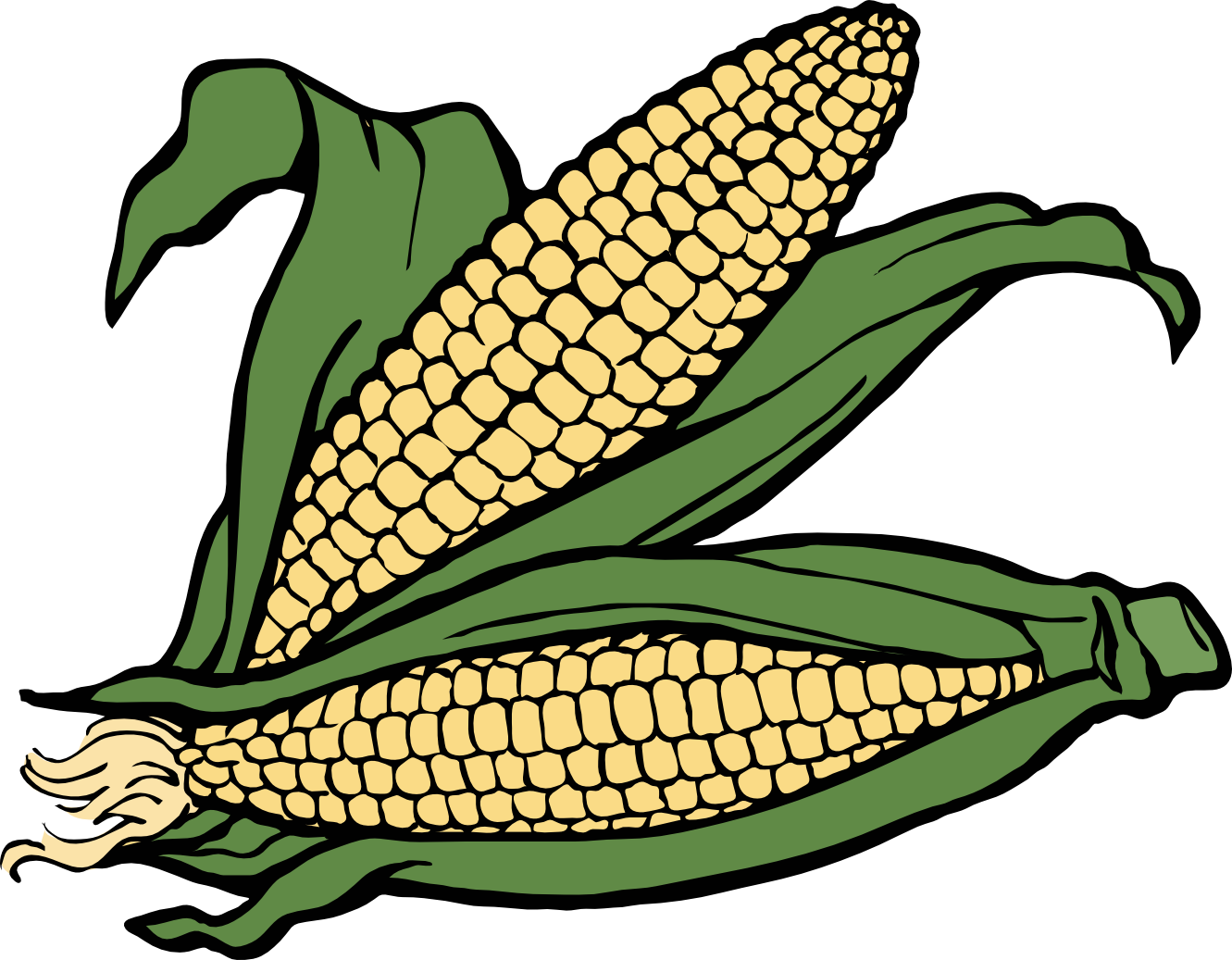 clip free library Corn clipart black and white. Plant clip art best