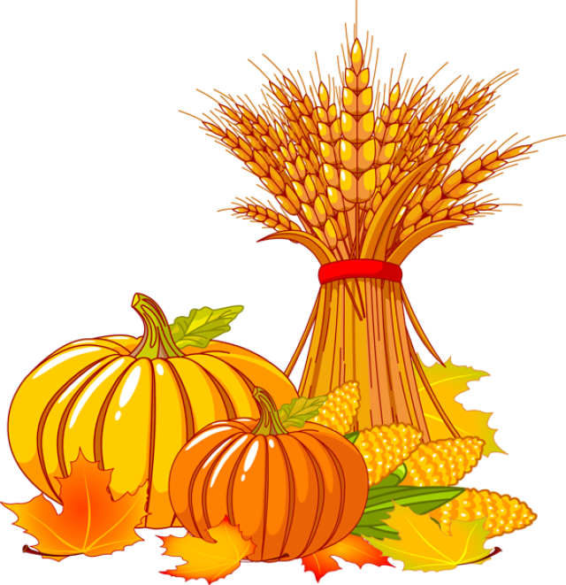 png download fall scene clipart hay corn stalk pumpkin