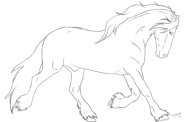 jpg black and white Friesian Horse Drawing at GetDrawings