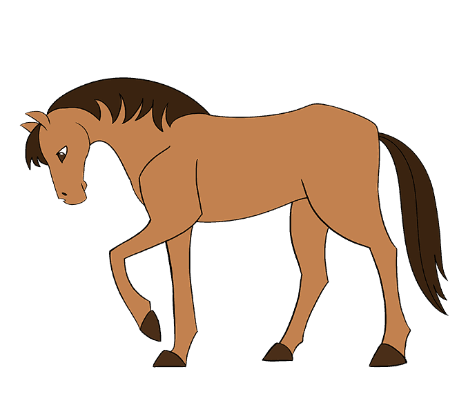 clipart freeuse download How to draw a Simple Horse