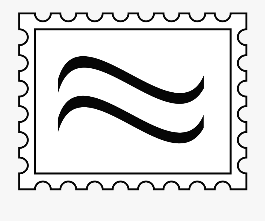 banner library stock Stamped envelope letter . Stamp clipart