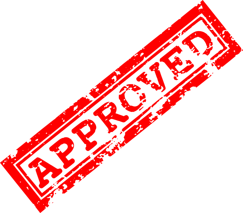 vector library Red approved png free. Stamp clipart censored.