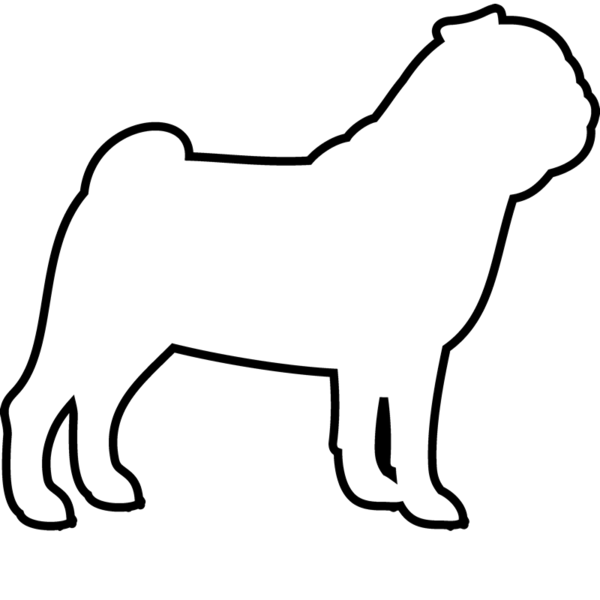 graphic free stock Pug Outline Drawing at GetDrawings