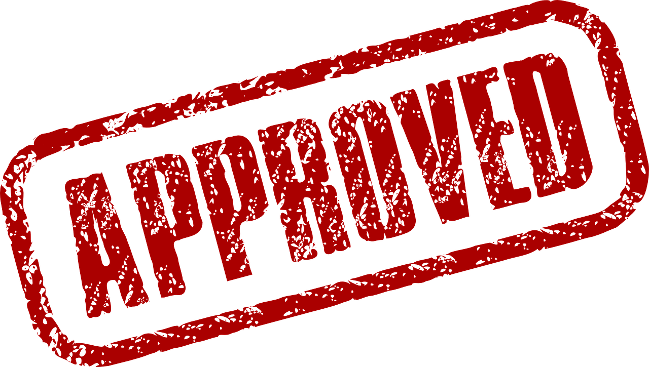 clipart black and white stock Stamp of Approval