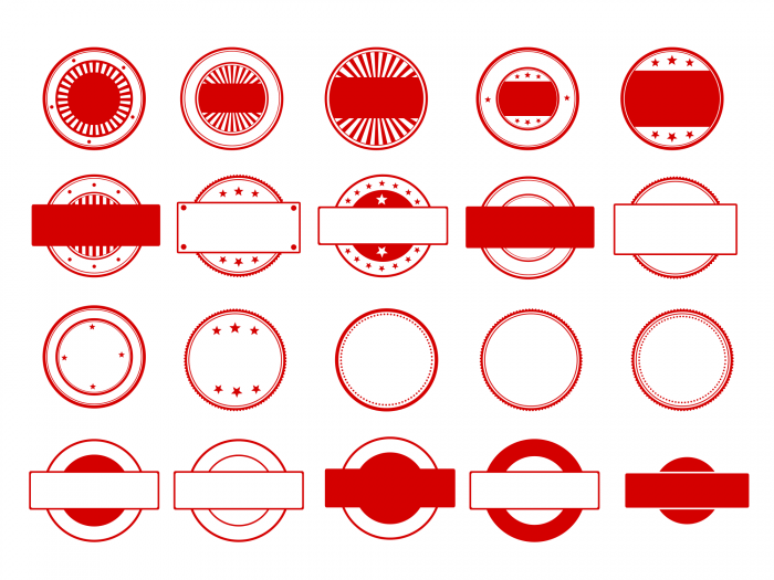 jpg transparent download  red empty png. Vector stamp