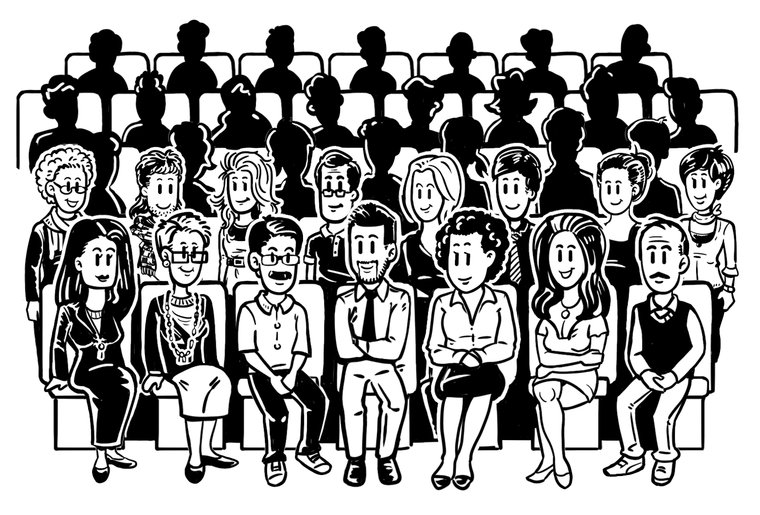 graphic royalty free Audience Drawing at GetDrawings