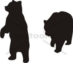 vector library stock Standing bear clipart. Silhouette best cabin ideas
