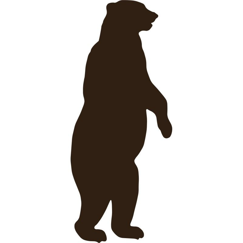 svg transparent stock Grizzly silhouette images . Standing bear clipart