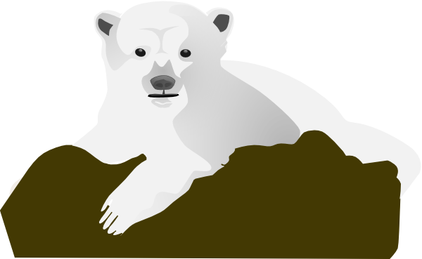 picture library Standing polar bear clipart. The clip art at