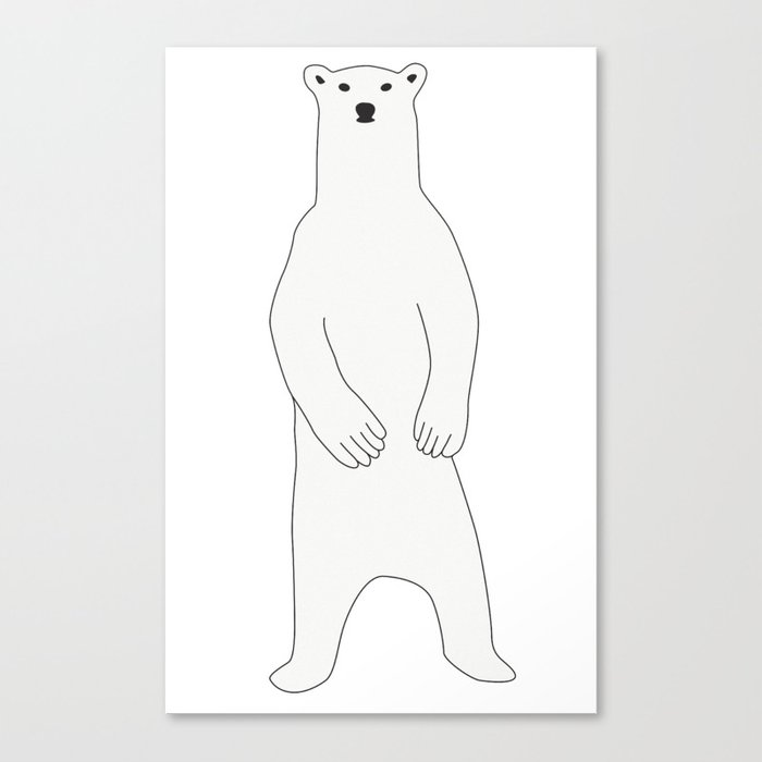 image royalty free download Canvas print by maaikeankum. Standing polar bear clipart