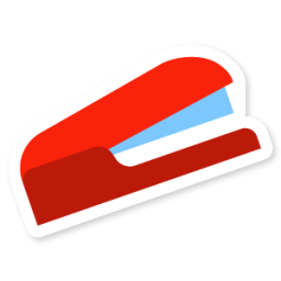 banner black and white library stapler icon