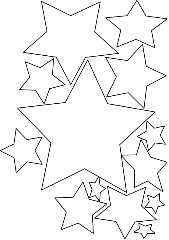 png royalty free download Black and white stars clipart. Star clip art panda