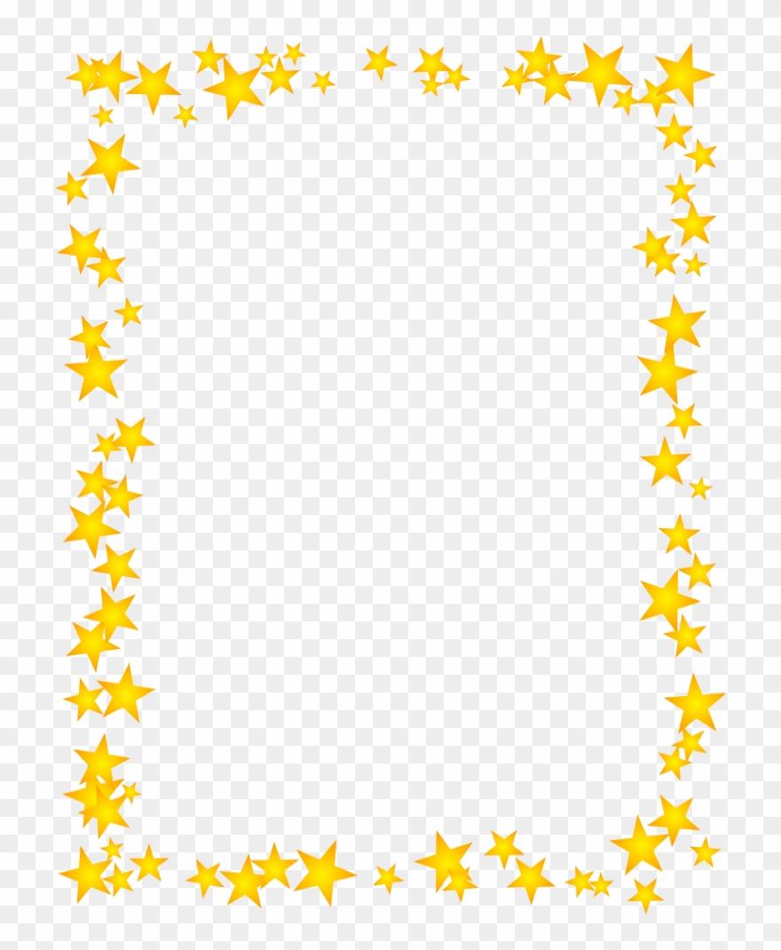 jpg black and white library Gold star border dromhja. Clipart stars borders
