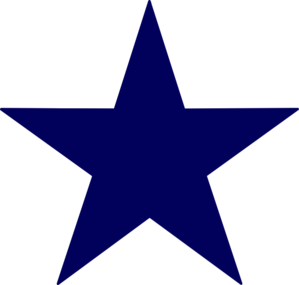 png freeuse Dark Blue Star Clip Art at Clker