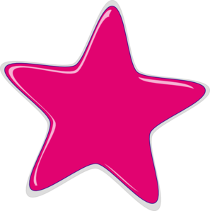 vector royalty free download Pink Star Clip Art at Clker