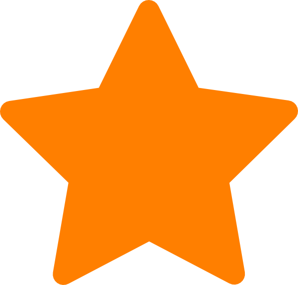 vector free download star clip orange #103750229