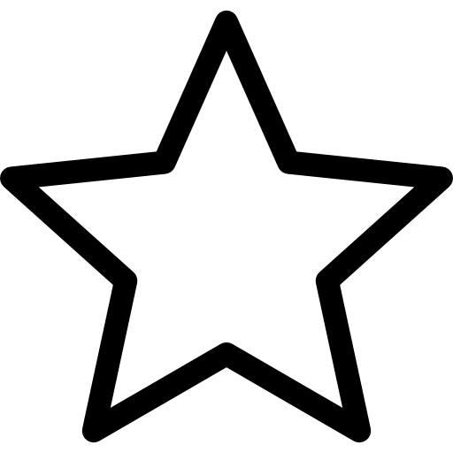 black and white library Plain star