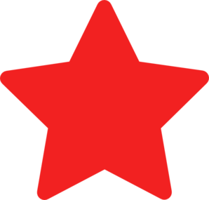 clipart transparent library star clip red #103745940