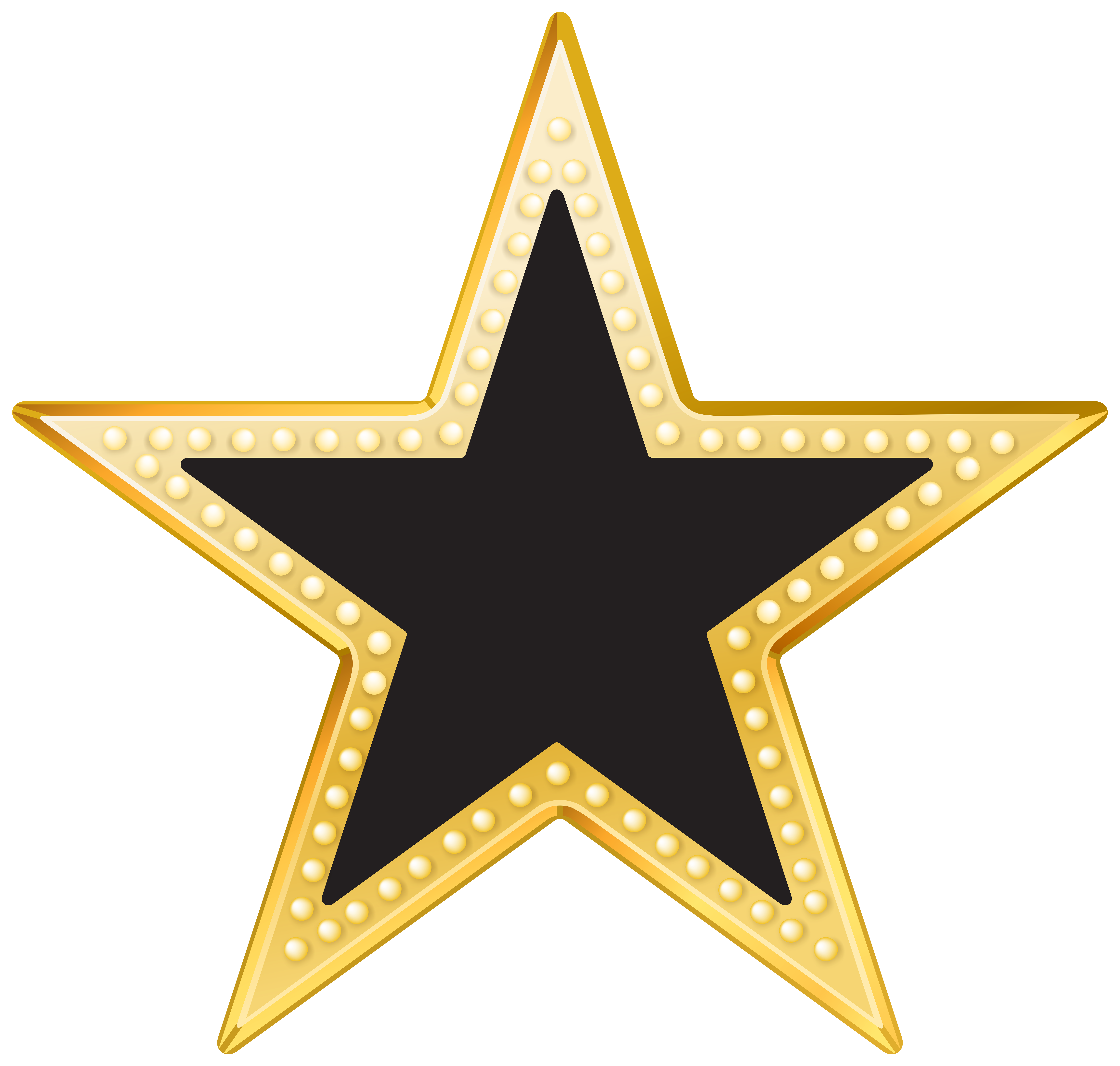 clipart black and white library Gold and black star. Stars clip transparent background