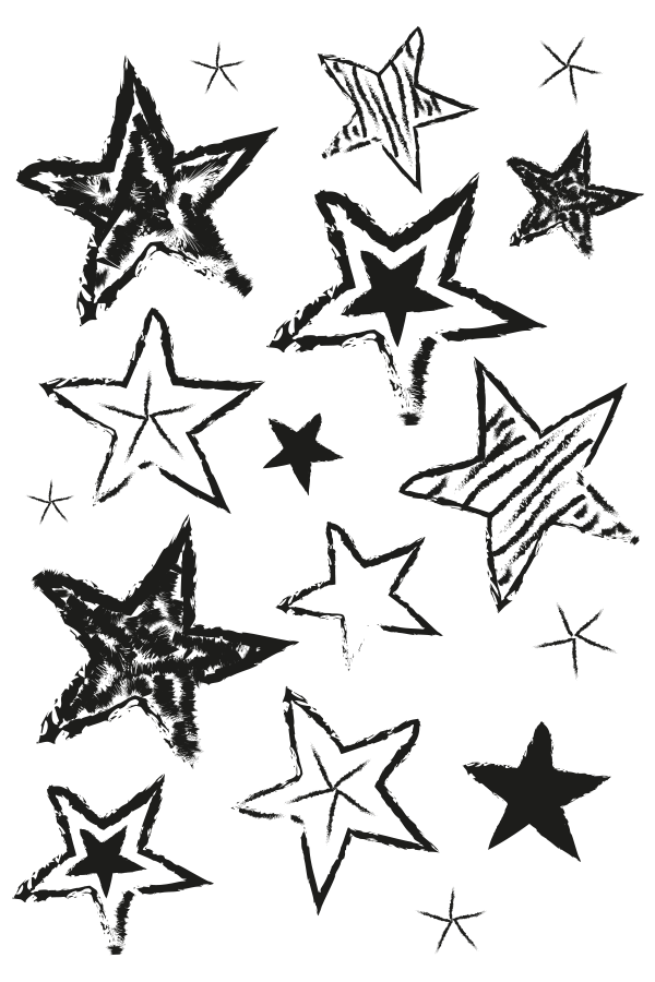 clip art royalty free library Hand Drawn Stars Stamp
