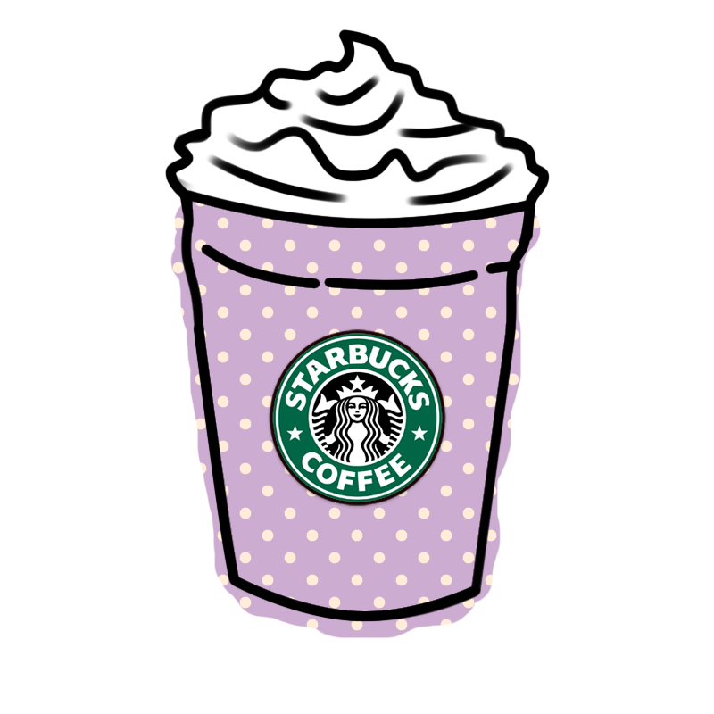 image black and white Deviantart more like png. Latte clipart tumbler starbucks.