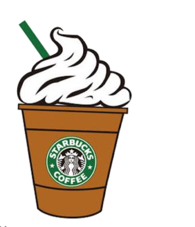 graphic black and white stock Starbucks coffee clipart. Frappe sticker by jessica