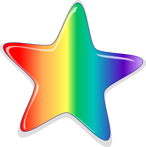 banner transparent library Rainbow Starburst Clipart