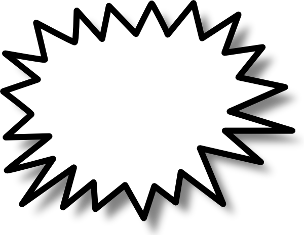 picture library library Starburst Clip Art Outline