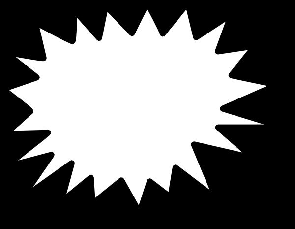 clip freeuse library Sunburst clipart black and white. Starburst clip art outline