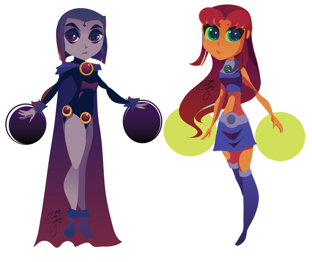image transparent Raven and Starfire by Ceshira on DeviantArt