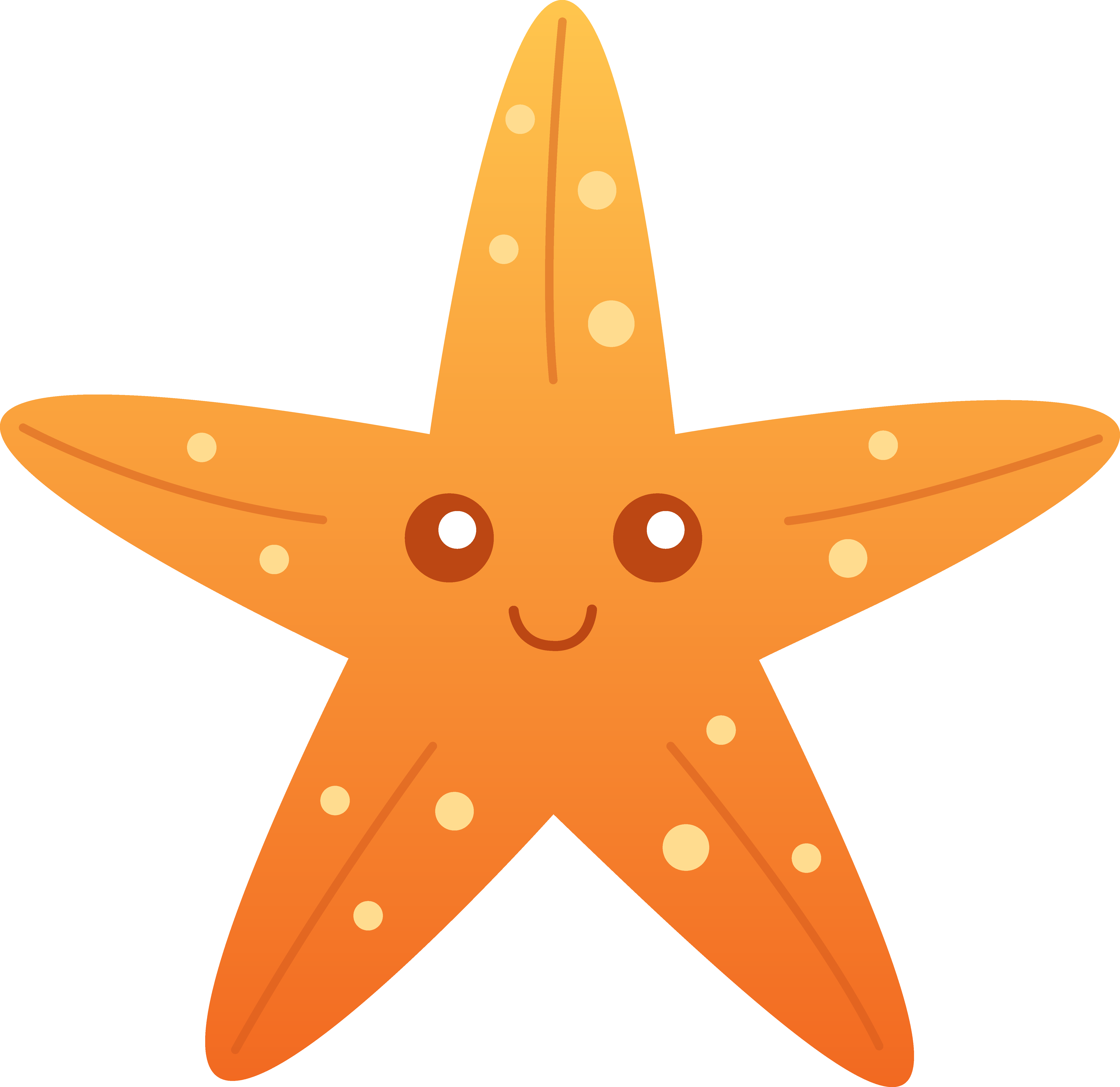 graphic freeuse download Starfish clipart. Cute panda free images.
