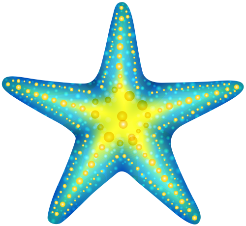 clipart stock Blue Starfish PNG Clip Art